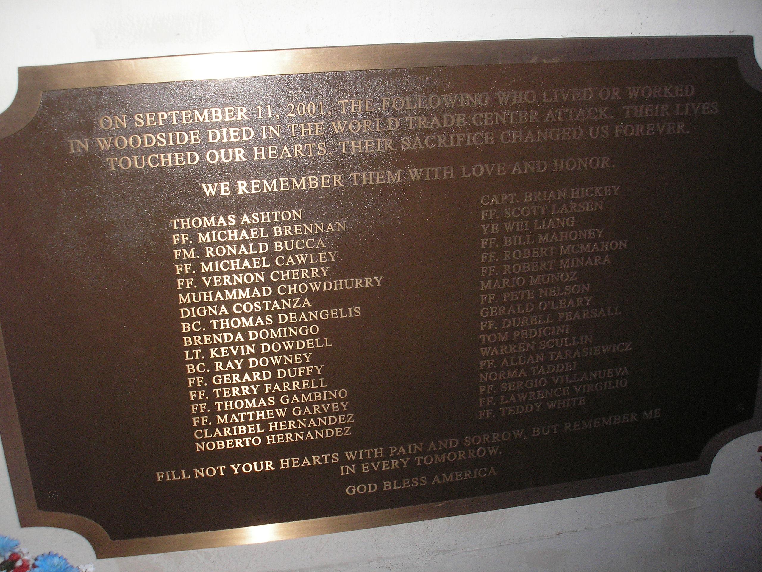Woodside 911 Memorial