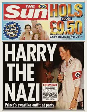 prince harry nazi uniform. Prince Harry apologized
